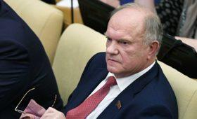 Зюганов рассчитывает на поддержку Путина в ситуации с главой Приангарья