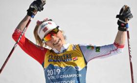 Лыжница Йохауг превзошла Лазутину поколичеству золотых наград начемпионатах мира