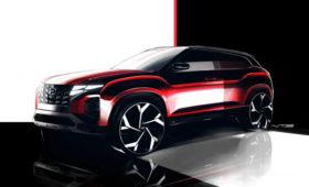 Hyundai Creta готовится к рестайлингу: первые официальные изображения